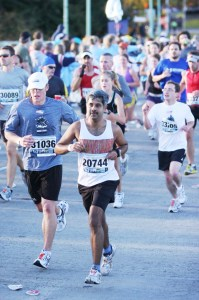 Ramesh at the 2009 Marine Corps Marathon (Photo: Courtesy Ramesh Kanjilimadhom)