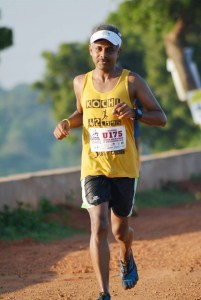 At the 2015 Chennai Trail Marathon (Photo: courtesy Ramesh Kanjilimadhom)