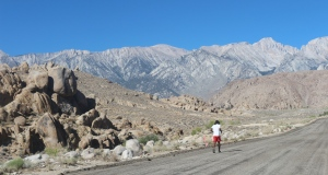 Running the Badwater ultramarathon (Photo: courtesy Vijayalakshmi Nadar)
