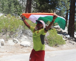 Completing the race (Photo: courtesy Vijayalakshmi Nadar)