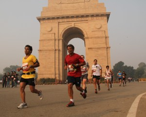 Running in Delhi (Photo: courtesy Sanjay Bhingarde)