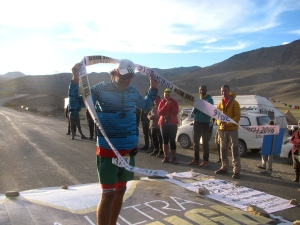 Alex at the finish line (Photo: Shyam G Menon)