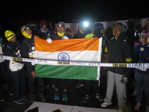 August 11, close to 8 PM, start line of the race. In the foreground are some of the 111km-runners including members of the Indian Navy team (Photo: Shyam G Menon)