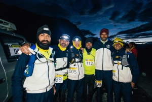 The Indian Navy's ultramarathon team (Photo: courtesy La Ultra / the navy team)