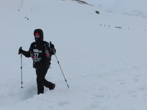 From the race in Antarctica (Photo: courtesy Michelle Kakade)