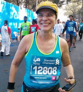 At the Standard Chartered Mumbai Marathon - SCMM (Photo: courtesy: Pervin)