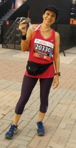 At the half marathon in Delhi (Photo: courtesy Pervin)