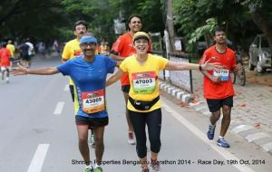 At the Bengaluru marathon (Photo: courtesy Pervin)