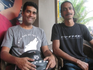 Praveen Prabhakaran (left) and Vinay Menon (Photo: Shyam G Menon)