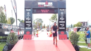 Meena, completing the Budapest Half Ironman