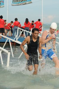 At the Ironman event in Malaysia