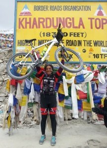 From a cycling trip to Khardung La in Ladakh