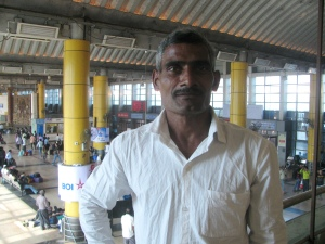 Sabhajeet Yadav; back at Mumbai's Kurla Terminus to board his train for Uttar Pradesh following the 2017 SCMM (Photo: Shyam G Menon)