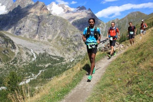 Kieren running UTMB-CCC (Photo: Frash Sport / courtesy: Kieren D' Souza)